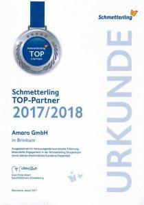 Schmetterling Top Partner Urkunde
